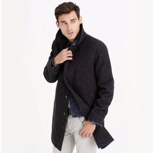 J. Crew Charcoal Wool Car Coat with Thinsulate